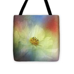 Photography Tote Bag featuring the photograph Cosmos In Textured Pastels By Kaye Menner by Kaye Menner