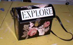 purse made from binocular case