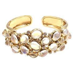 1stdibs - TEMPLE ST CLAIR Bombe Diamond & Blue Moonstone Gold Bracelet explore items from 1,700  global dealers at 1stdibs.com