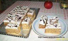 Márványos tetejű diós süti
