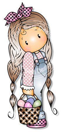 boneca com cesto de ovos