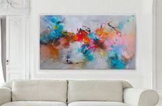Original abstract acrylic painting Large wall art by GabiGerArt