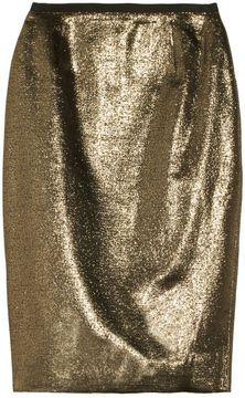 Tory Burch Brandy metallic woven pencil skirt on shopstyle.com