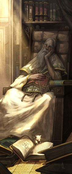 The principle of the University of Alasanaria, Amar Windoor, take a nap while his soulfriend Little white search through his books.