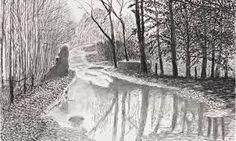 Image result for david hockney charcoal prints