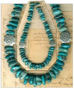Turquoise Soul  . . .                  Mexican NACOZARI TURQUOISE Beads Blue Natural Color Genuine 7-9mm Sonora