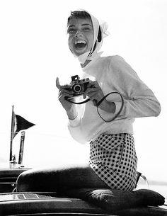 Audrey Hepburn in a photo by her husband Mel Ferrer, Switzerland, 1954