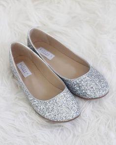6ed0f91d5901 Harper - GOLD Embellished Mesh Flats. Silver Flat Wedding ShoesWedding ...