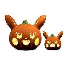 Image for Pumpkin Pikachu Pokémon Halloween Ceramic Tea Light Holders (2-Pack) from Pokemon Center Pokemon Halloween, Halloween 2020, Fall Halloween, Halloween Party, Halloween Paper Crafts, Halloween Decorations, Pokemon Pumpkin, Pumpkin Lights, Halloween Looks