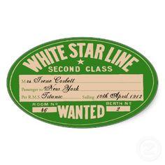 White Star Line Second Class Luggage Sticker