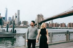 Urban engagement photos on the Brooklyn Bridge | Image by A Girl Named Leney
