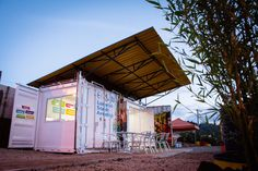 Old shipping container recycled into solar-powered learning lab in Colombia
