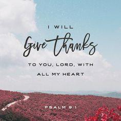 Verse of the Day Psalms 9 NKJV http://bible.com/114/psa.9.1.NKJV
