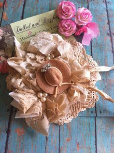 Burlap Linen Lace/ Cowgirl Dress Sash by DolledandDazzled on Etsy, $28.99