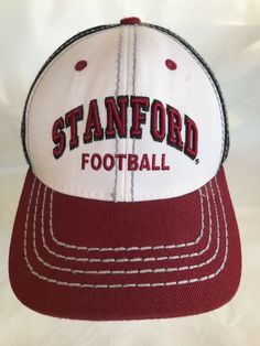 Standford Football Red White Black Gray Stitch Baseball Hat Snapback Wool  Blend  Zephyr  BaseballCap d8bc72f91c72