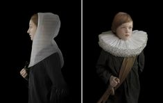 I really love the DIA's collection of Dutch paintings, and these photographs beautifully re-imagine those images.