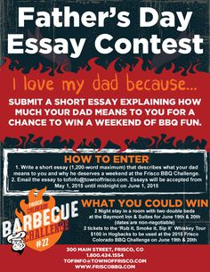 fathers day essay contest