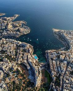 Solve St Julian's Bay, Malta jigsaw puzzle online with 99 pieces Places To Travel, Places To Go, Malta Gozo, Malta Sliema, Malta Island, Travel Gadgets, Nightlife Travel, Travel Light, Aerial Photography