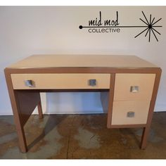 Norman Bel Geddes Simmons desk. Available at Mid Mod Collective. Email midmodcollective@gmail.com for more info.