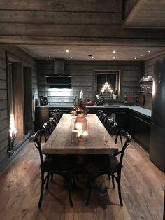 Chalet Interior, Interior Design, Stone House Plans, Open Plan Kitchen Living Room, Timber Frame Homes, Dream Decor, Scandinavian Style, Home Decor Inspiration, Kitchen Interior