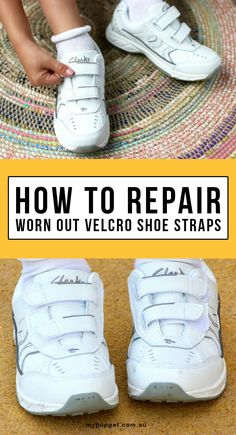 A quick video tutorial showing you how to easily repair worn out velcro fastener on sports shoes and kids shoes.                                Gloucestershire Resource Centre http://www.grcltd.org/scrapstore/