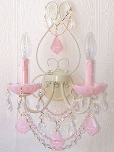 pretty cute lights vintage Home pink house crystal pastel decor pale chandelier