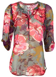 FLORAL TUNIC BLOUSE | Dynamite at Oshawa Centre.