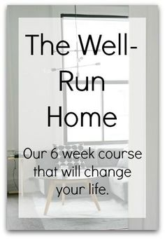 Does running your home run you down? Join us for a 6 week course that will unchain you from the drudgery of your mundane household tasks!