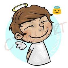 1D as emojis- Louis