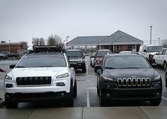Next to a stock latitude White Jeep Cherokee, Jeep Cherokee 2017, Jeep Cherokee Trailhawk, Grand Cherokee Overland, Jeep Grand Cherokee, Jeep Stuff, Car Stuff, Family Cars, Future Transportation