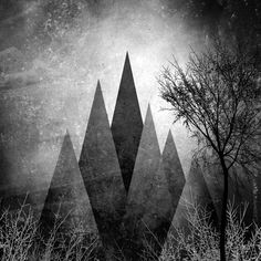 """TREES VIII From my project work """"Trees and Triangles"""" ©2015 Pia Schneider 