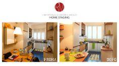 #AbitareIlMeglio. La cucina è la stessa?! Magie dell' #HomeStaging: un mix di colori e luci. http://www.rossomattone.eu/Home_Staging-p25.html