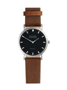 Watch with light brown leather strap / by Shore Project