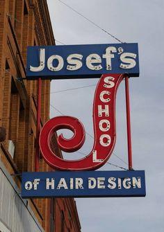 Josef's School of Hair Design in #Fargo #NorthDakota #neon #sign