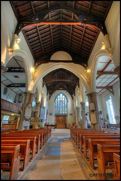 The Knave HDR (St Mary's Church), by Peter Hall