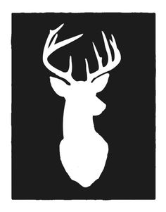deer silhouette - something tells me I'll need this some day.