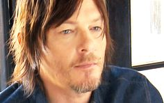 norman reedus with sun-kissed hair and oh those eyes