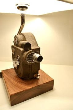 One of a matching pair of Revere 8mm camera lamps.