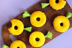 Pineapple Donuts!  What a perfect combo for summer!