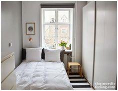 Consejos para distribuir un dormitorio muy pequeño.