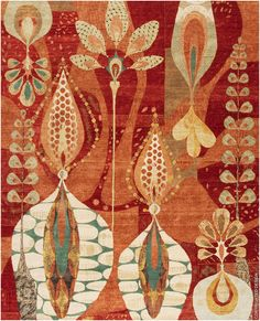 Twin Peaks Red | David E. Adler, Inc. | Fine Rugs | Scottsdale, Arizona