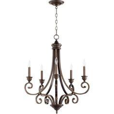 Quorum International 6054-5-86 Bryant 26 inch Oiled Bronze Chandelier Ceiling Light