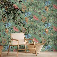 NEW WALLPAPERS – Woodchip & Magnolia Green Floral Wallpaper, Botanical Wallpaper, Wallpaper Uk, Wallpaper Samples, Victorian House Interiors, Victorian Homes, Wall Murals Uk, Magnolia Paint, Design Repeats