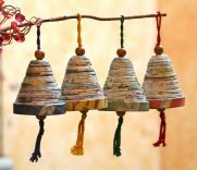 This handmade creation is offered in partnership with NOVICA, in association with National Geographic. Guatemala's Argentina and Francisco present this set of festive ornaments. Handcrafted of recycle
