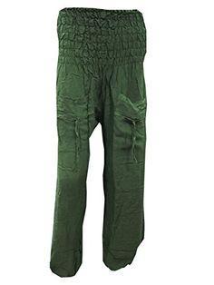 Hippy Pants, Hunter Green, Parachute Pants, Harem Pants, Capri Pants, Bohemian, Yoga, Couture, Amazon