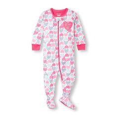 Dormeuse à manches longues, imprimé de cœurs « My Mom Is My BFF » et chaussons pour bébé et tout-petit, fille