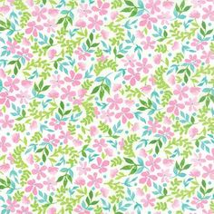 Moda Fabrics Fleurologie by Stephanie Ryan Blush Cloud Phlox and Clover