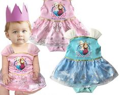 SALE! FROZEN PRINCESS ONESIE TUTU Price: $29.99, Free Shipping Options: 0/6M, 6/12M, 18/24M, 24M click to purchase