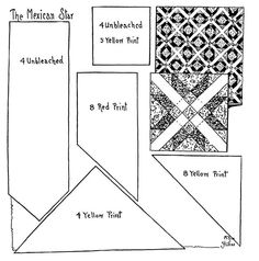 Quilt pattern: Mexican Star