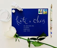 Finest White Modern Calligraphy Envelopes by emmahcalligraphy on Etsy